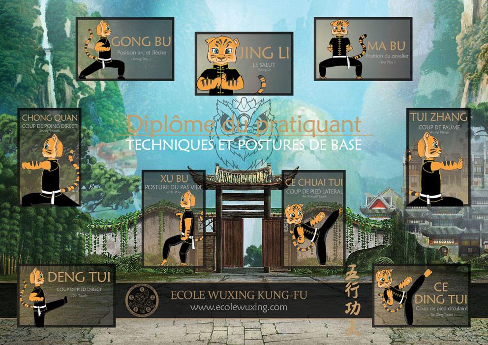 Postures et techniques de base ecole wuxing kung fu for Kung fu technique de base pdf